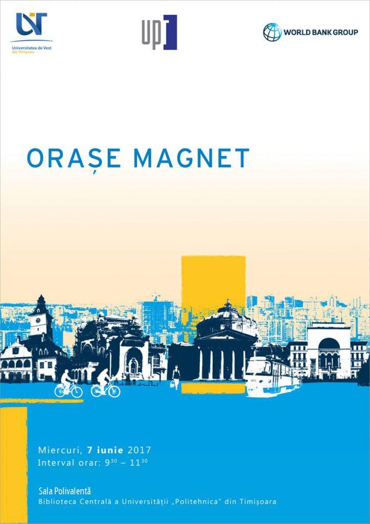 """Dezbatere despre """"Orașe Magnet"""" la Biblioteca Universității Politehnica Timișoara"""