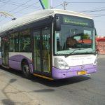 Staţie de pe traseul troleibuzului 15, suspendată temporar