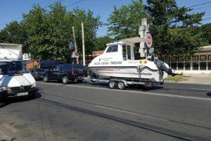 Prima șalupă a intrat în posesia polițiștilor locali de la Biroul de Patrulare Navală