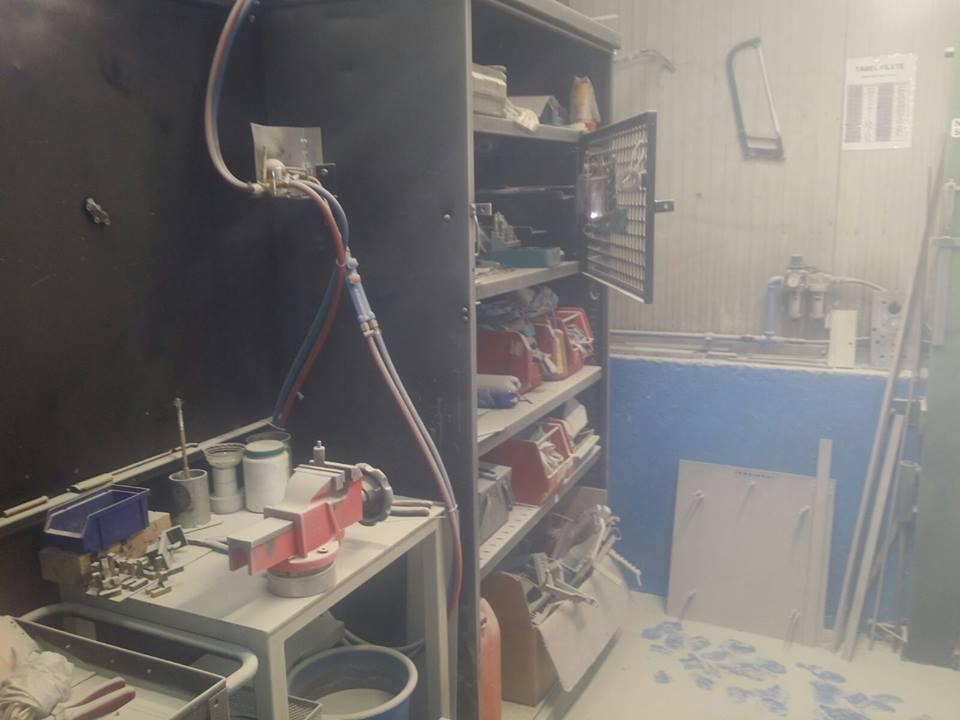 Pericol de explozie la un atelier mecanic