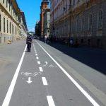 FOTO. Avem piste de biciclete pe strada Mărășești. Pista duce și într-o zonă INTERZISĂ pedalatului