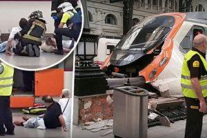 Cel puţin 48 de răniţi într-un accident feroviar la Barcelona