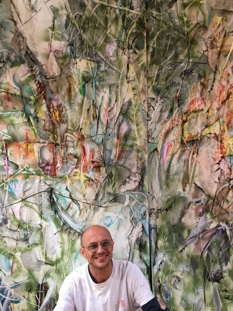 Pictura monumentală a lui Cristian Sida va decora o instituție din Aubusson
