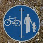 Piste de biciclete în zona pietonală din Timișoara