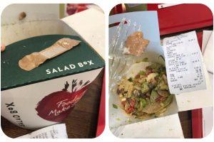 FOTO Salad Box Timișoara vinde salate FRESH cu… leucoplast folosit