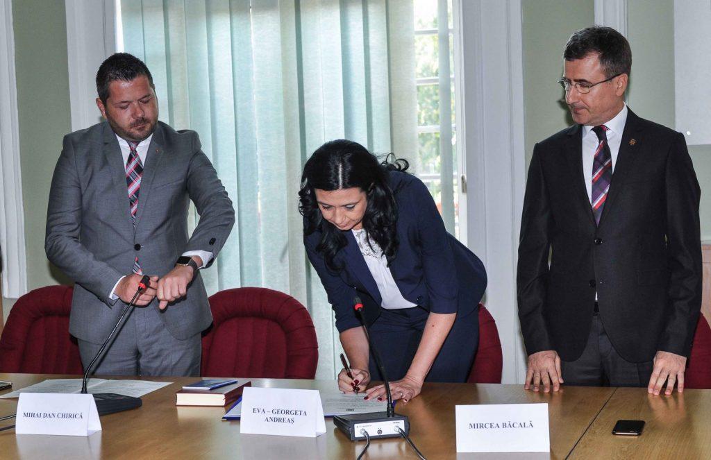 Eva Andreaș, învestită în funcția de prefect