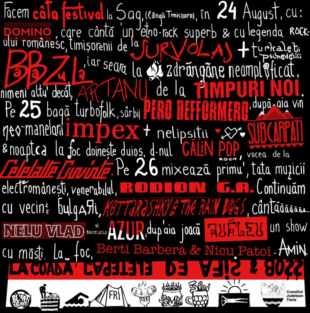 """""""Câta Festival"""", un eveniment inedit la Șag. Ce formații etno-rock vor concerta"""