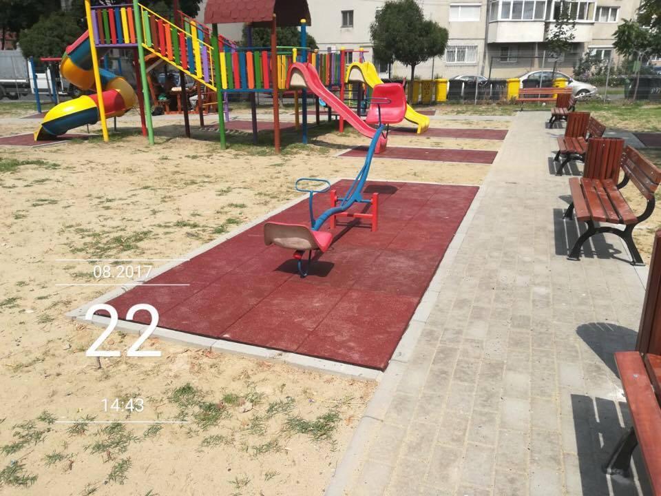 Locul de joacă de pe strada Iepurelui a fost modernizat