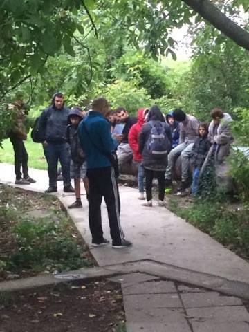 Migranți săltați din Parcul Botanic