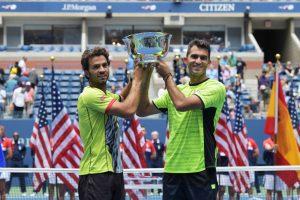 September 8, 2017 - 2017 US Open Men's Doubles Champions Jean-Julien Rojer and Horia Tecau.