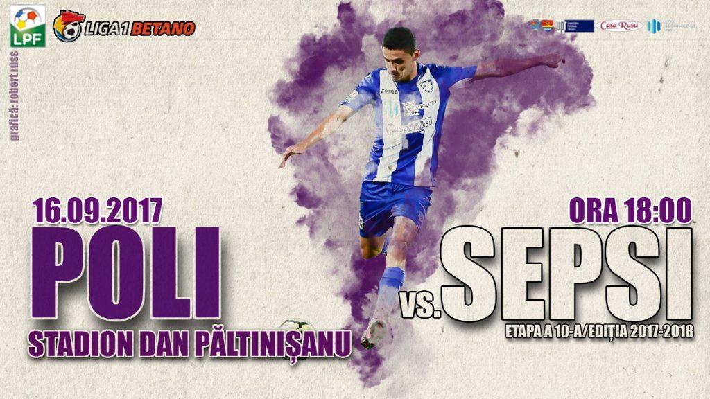 Biletele la Poli Timișoara – Sepsi OFK, puse la vânzare odată cu tricourile oficiale