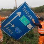 Daune pe drumurile naționale și pe A1 în urma vijeliei din vestul țării