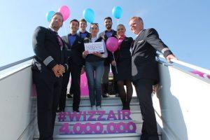 Wizz Air sărbătorește 4 milioane de pasageri în Timișoara