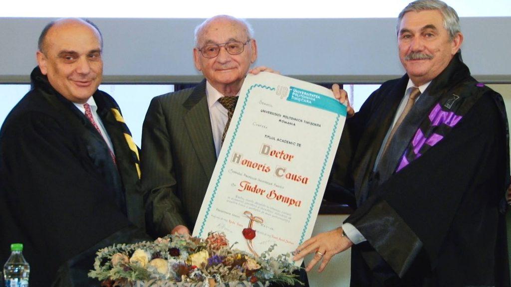 Prof.dr. Tudor Bompa a primit titlul de Doctor Honoris Causa al UPT