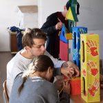 Elevii au transformat Piaţa Iosefin în galerie de artă
