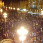 Video: Mii de timișoreni la protestul împotriva modificărilor legii justiției și a PSD