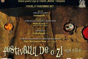 """""""Festival de o zi"""" la Teatrul Merlin din Timișoara. Patru trupe joacă pentru cei mici"""