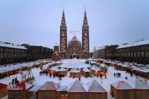 Foto. Târgul de Crăciun de la Szeged, o atracție pentru timişeni