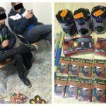 Doi puști de 16 ani care vindeau petarde, ilegal, prinși de polițiștii locali în Piața Iosefin