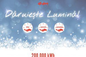 De Crăciun, E.ON Energie dăruieşte 200.000 de kWh pentru 14 instituţii. Trei sunt în județe vecine Timișului
