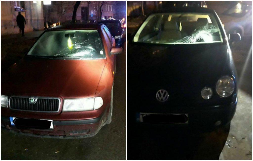 Bărbat de 30 de ani, certat cu prietena, a spart parbrizele a două autoturisme și a fost încătușat, la Timișoara