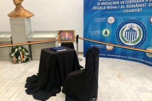 Cartea de condoleanțe pentru Regele Mihai, deschisă la USAMVB