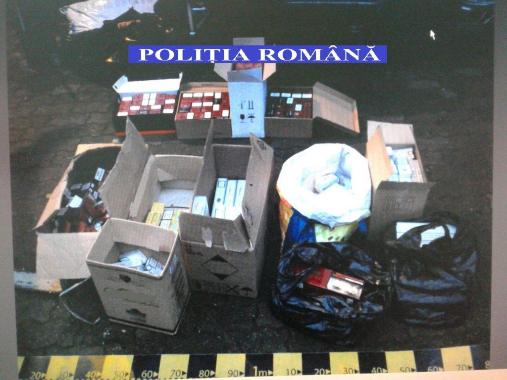Percheziții la contrabandişti de ţigări din Timiş. Poliţiştii au confiscat zeci de mii de ţigarete