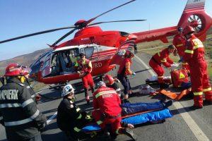 Accident rutier în județul Arad. A fost solicitat elicopterul SMURD