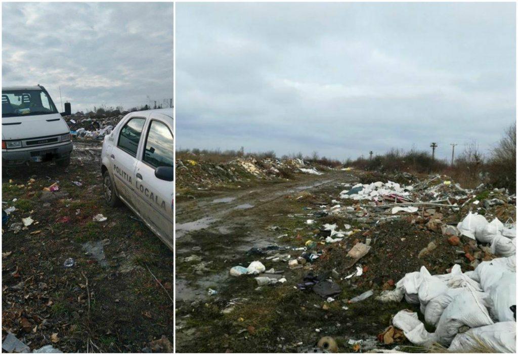 Deponeu clandestin de deșeuri, depistat de primarul din Moșnița Nouă, lângă Timișoara!