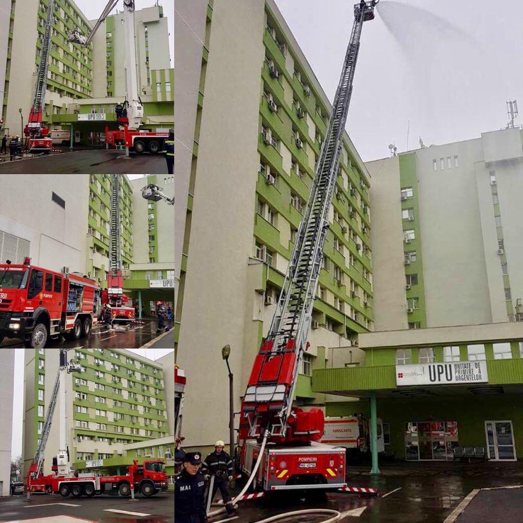 Misiune specială a pompierilor la Spitalul Județean