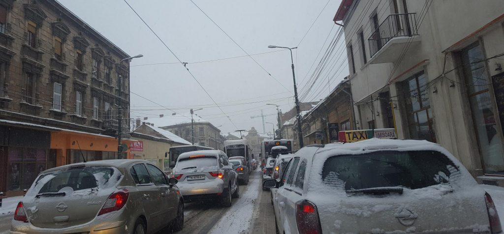 Dezastru în trafic la Timișoara