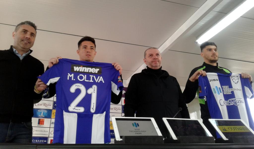 """Poli Timișoara și-a găsit atacant """"de top""""! Mihai Roman, de la U Craiova și fundașul Maxi Oliva, prezentați azi"""