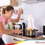 Ce faci dacă ia foc conținutul unui vas în timp ce gătești?