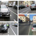 Foto: Căldura scoate bicicliștii din case! Zeci de șoferi amendați pentru blocarea pistelor, la Timișoara