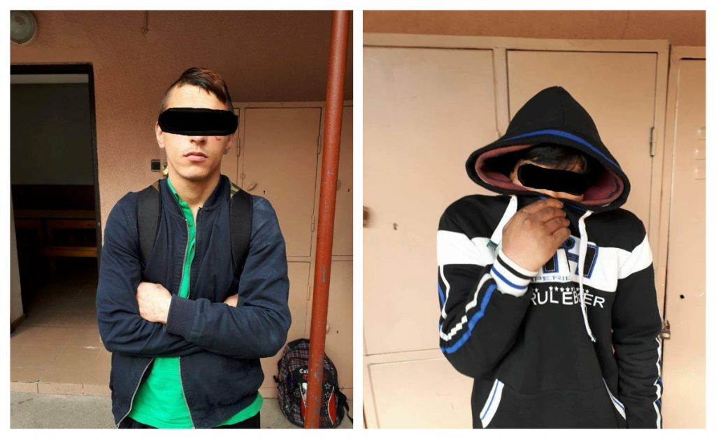 Doi tineri, reţinuţi după ce au furat două zile la rând din acelaşi magazin