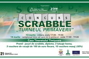 """Timișorenii sunt invitați la """"Turneul Primăverii"""" la scrabble"""