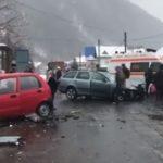 Accident grav în vestul ţării. O femeie de 32 de ani a murit și trei persoane au fost grav rănite