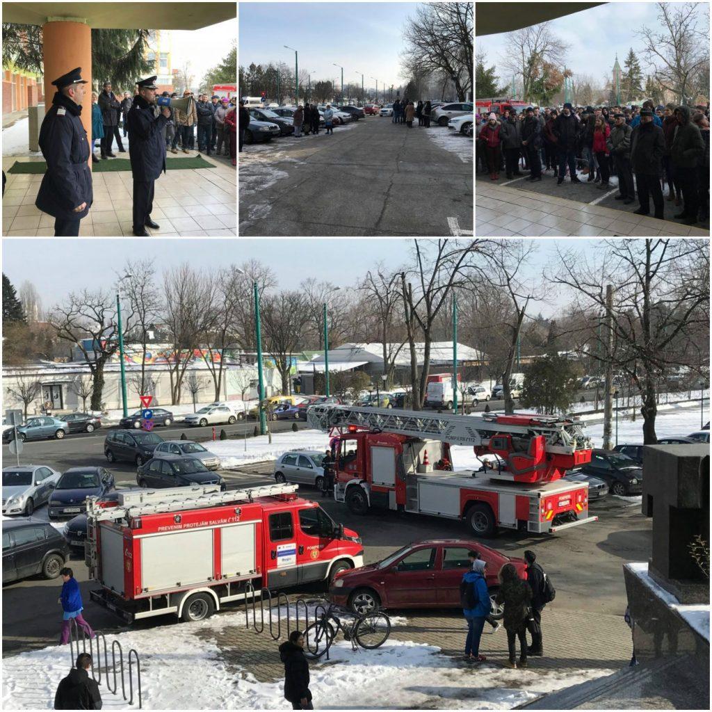 S-a dat alarma! Exerciţiu de evacuare în universitățile din Timișoara, în caz de incendiu