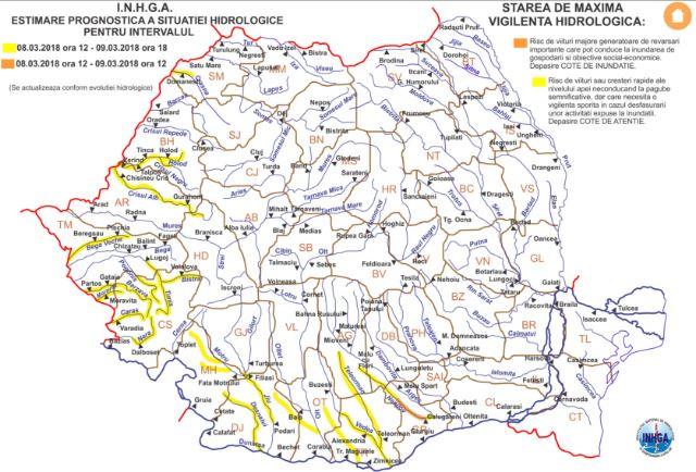 Codul galben de inundaţii, prelungit în Timiş