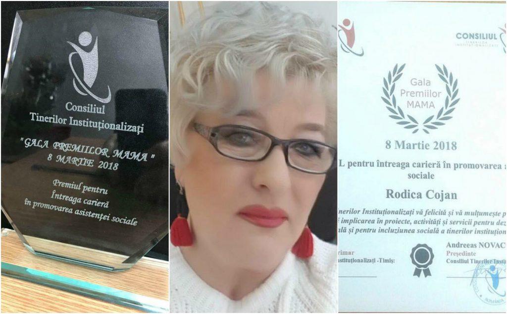 Rodica Cojan, premiu pentru întreaga carieră în dezvoltarea asistenței sociale
