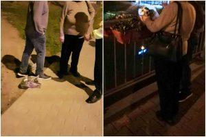 Mama și fiul au golit jardinierele de pe Podul Michelangelo, ca să-și planteze florile acasă!