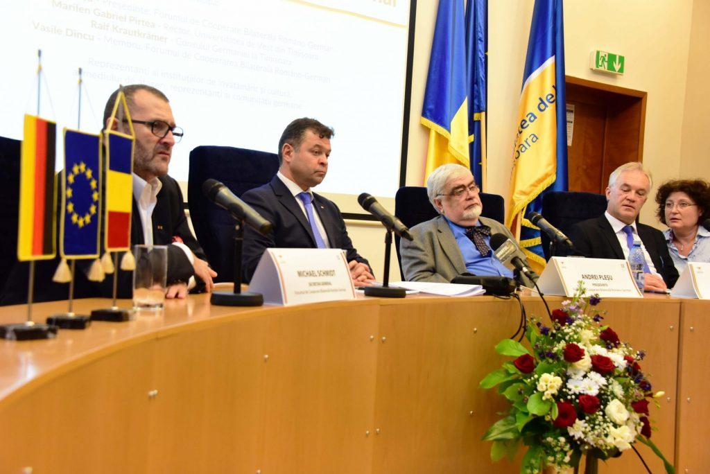 Cooperarea româno-germană în domeniul educației, sprijinită printr-un parteneriat între FCBRG și UVT