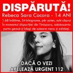 Rebeca Sara Cocora a fost găsită!