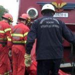 Un tren încărcat cu substanțe periculoase a deraiat