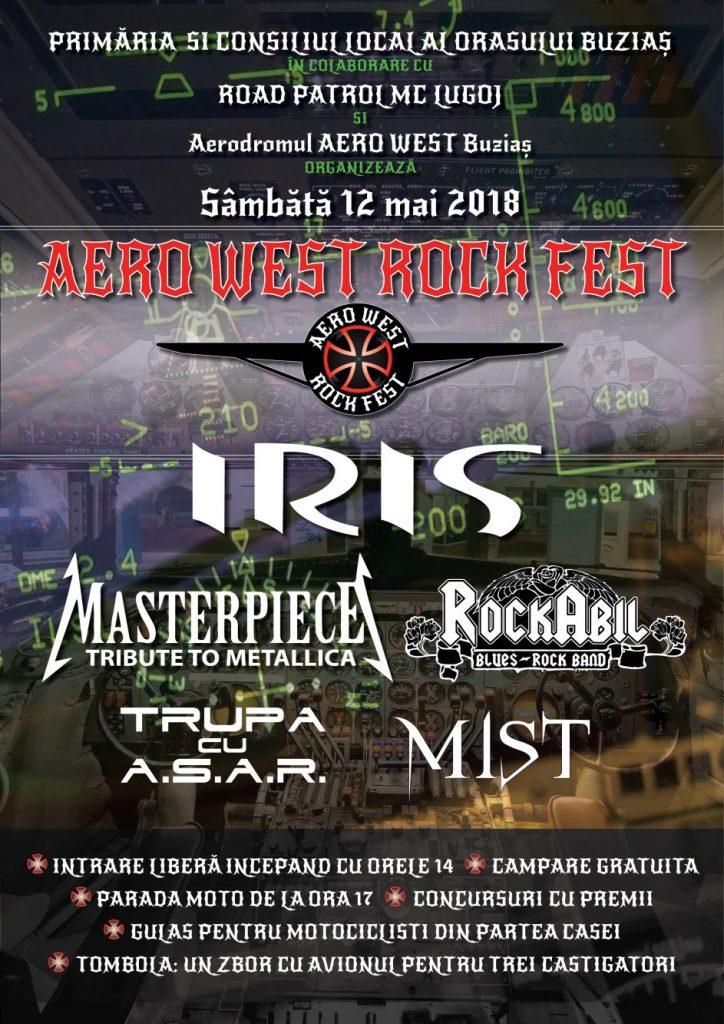 """Iris va concerta la """"Aero West Rock Fest"""" Buziaș. Ce surprize au pregătit organizatorii"""