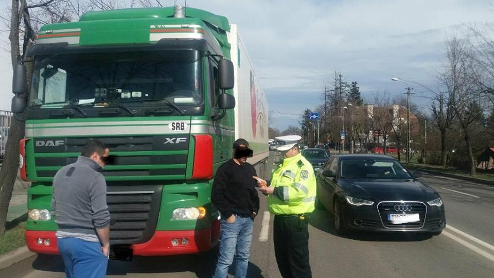Atenție! Continuă acțiunile privind depistarea şoferilor de autovehicule de mare tonaj care nu respectă legea