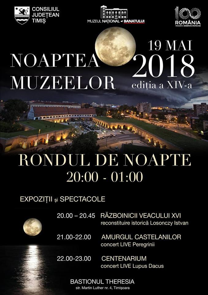 O noapte la muzeu! Muzeul Național al Banatului îşi deschide porţile
