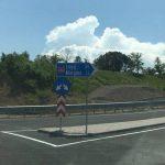 Traseu nou construit, cu sens giratoriu, pe A1