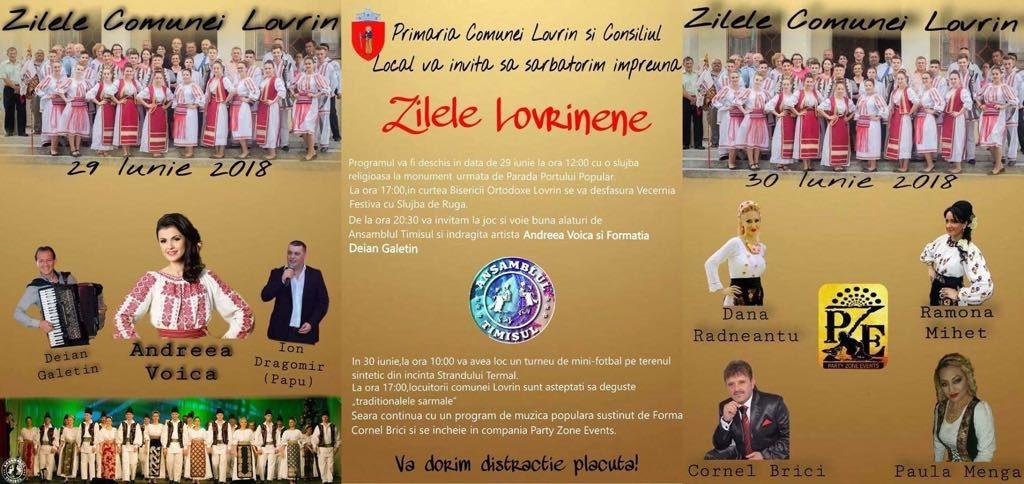 Bănățenii sunt invitați la Zilele comunei Lovrin. Vezi programul artistic