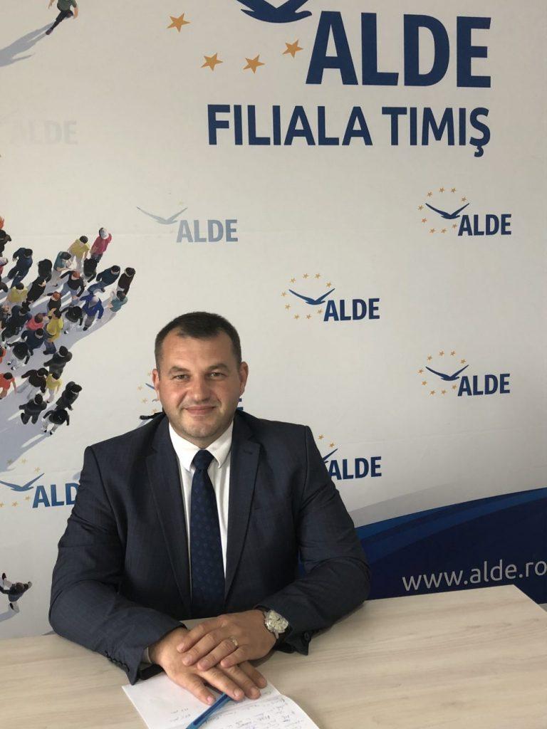 """Gabriel Toie, secretar coordonator ALDE Timiș: """"ALDE Timiș continuă munca alături de cetățeni"""""""